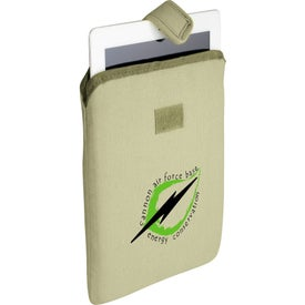 Trash Talking Recycled Tablet Sleeve with Your Slogan
