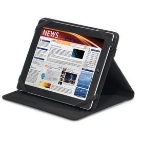 Imprinted Travis & Wells Leather Tablet Stand
