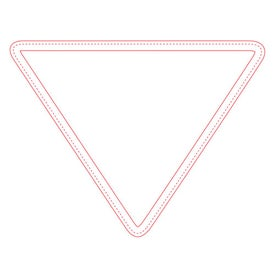 "Fabric Surface Triangle Mouse Pad (9.5"" x 7.25"" x 0.125"")"