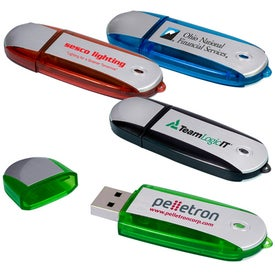 Imprinted Two-Tone USB Memory Stick 2.0 -