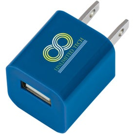 USB A/C Adapter with Your Slogan