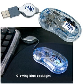 Imprinted USB Clear Optical Mini Mouse
