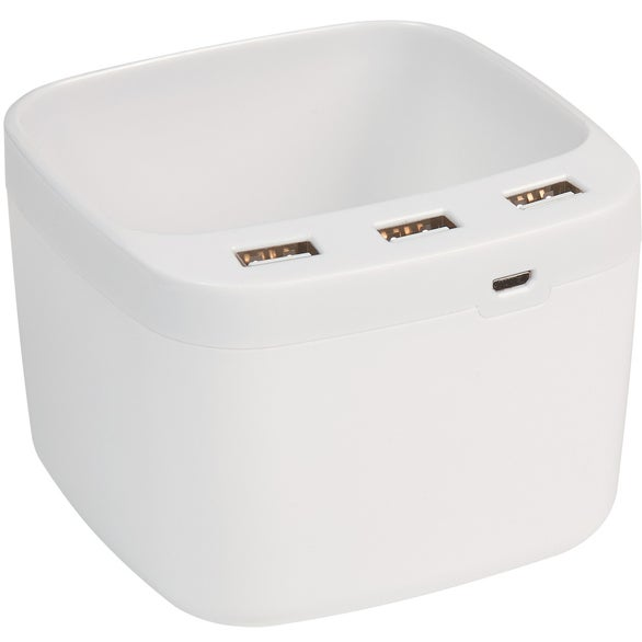 White USB Desk Caddy