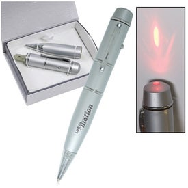 Imprinted USB Pen Drive and Laser Pointer 2.0 - 2GB