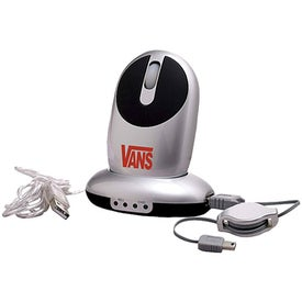 Wireless Optical Mouse with USB HUB