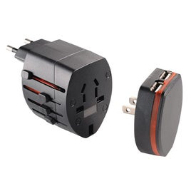 World Travel Adapter with USB Port