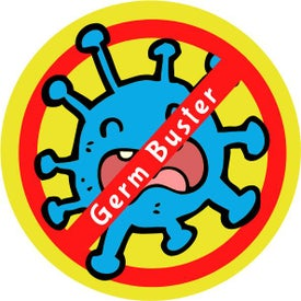 Germ Buster Hygiene Labels - 4 Designs