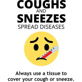 Healthy Hygiene Labels - Coughs and Sneezes