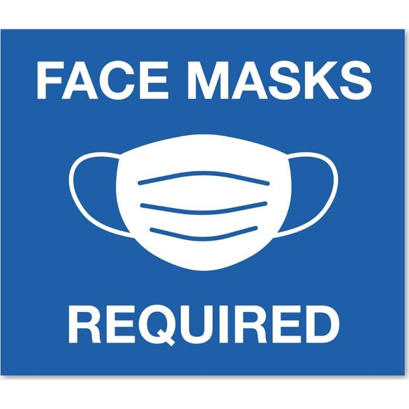 Face Masks Required Rectangular Stock Masks Required Wall Decal
