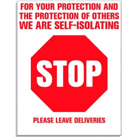 Repositionable Self Isolating Stop Sign Stickers