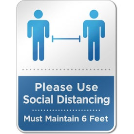 Social Distancing Reminder Wall Signs