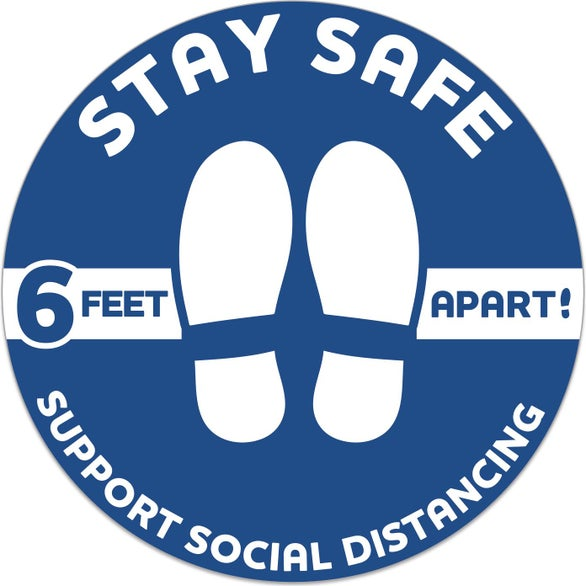 Stay Safe Stay Safe Floor Decal - Circle
