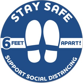 Stay Safe Floor Decal - Circles