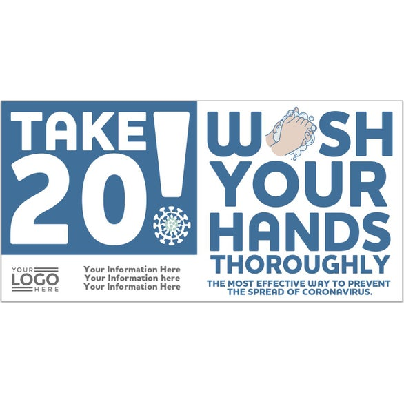 Wash Your Hands Take 20! Wash Your Hands Stickers