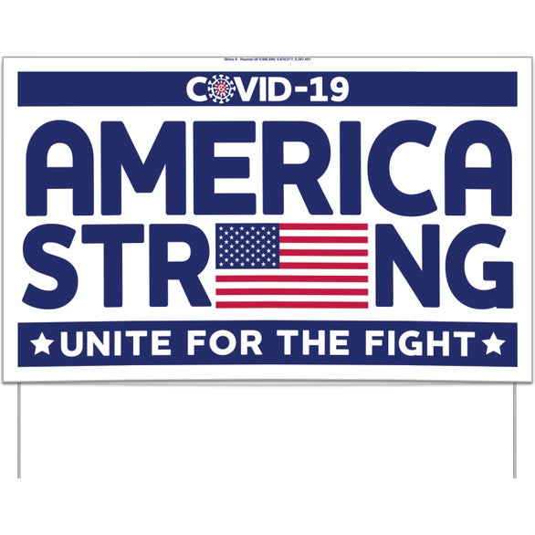 America Strong UNITE for the FIGHT Yard Sign - America Strong
