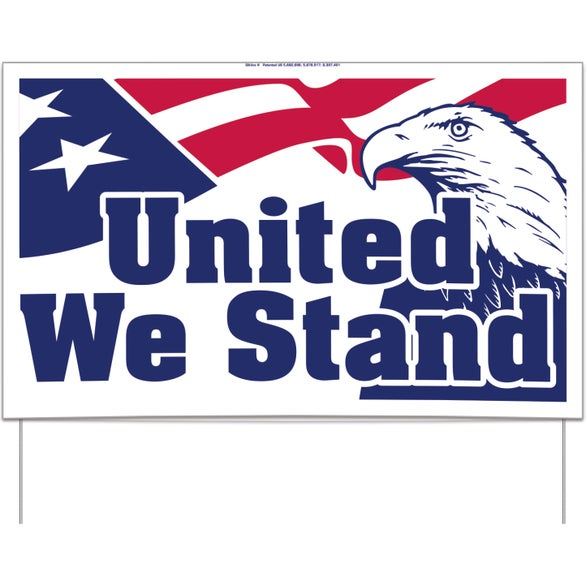 United We Stand UNITE for the FIGHT Yard Sign - United We Stand