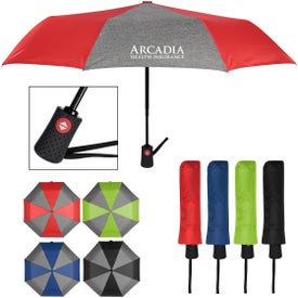 Heathered Telescopic Folding Umbrellas