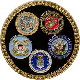 Military Coins with All 5 Branches