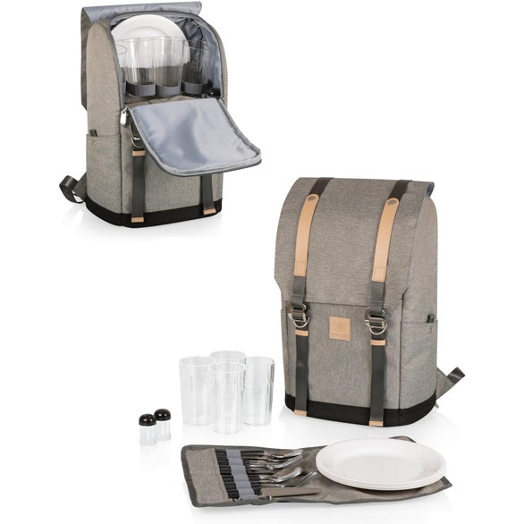 Heather Gray Frontier Picnic Backpack Cooler