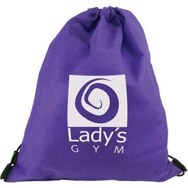 Drawstring Backpack Imprinted with Your Logo