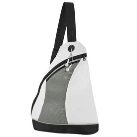 2 Tone Color Splash Side Sling Pack Printed with Your Logo