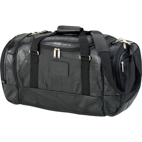 "22"" Deluxe Leather Travel Duffel"