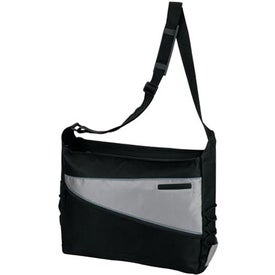 2-Tone Computer Messenger Bag Printed with Your Logo