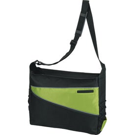 Imprinted 2-Tone Computer Messenger Bag