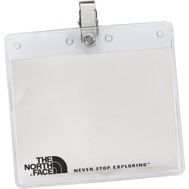 "3"" x 4"" Horizontal Vinyl Pouch with Bulldog Clip"