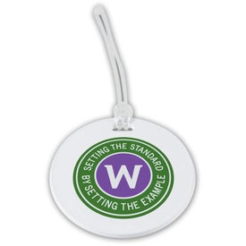 "3"" Round Luggage Tag for Marketing"