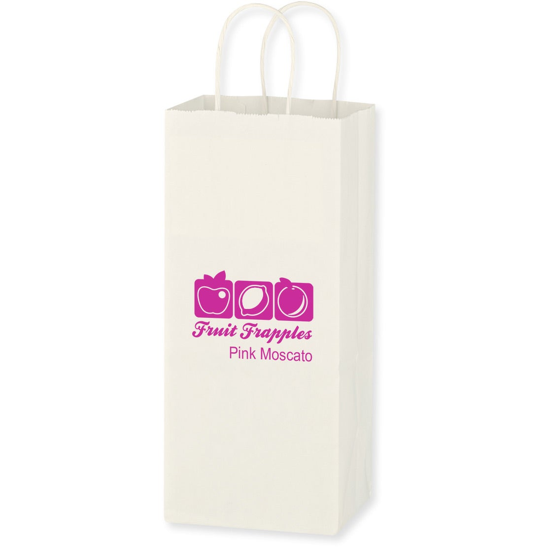 "Kraft Paper White Wine Bag (5.25"" x 13"")"
