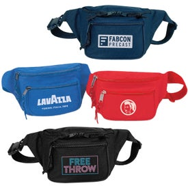 600D Polyester Triple Zipper Fanny Pack