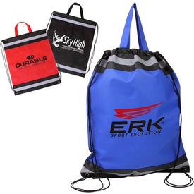 Visibility Drawstring Backpack with Reflective Panels