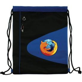 Promotional Air Mesh and Microfiber Cinch Bag Drawstring Backpack