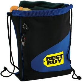 Air Mesh and Microfiber Cinch Bag Drawstring Backpack with Your Logo