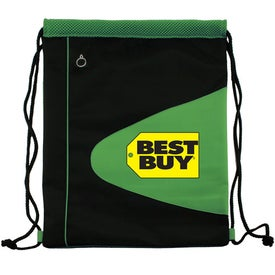 Advertising Air Mesh and Microfiber Cinch Bag Drawstring Backpack