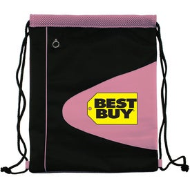 Air Mesh and Microfiber Cinch Bag Drawstring Backpack for Customization