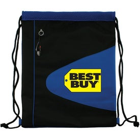 Advertising Air Mesh and Microfiber Cinch Bag Drawstring Backpack