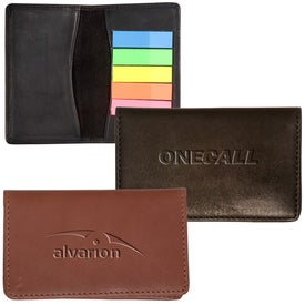 Alpine Gusseted Card Case with Sticky Flags for Your Organization