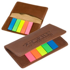 Personalized Alpine Gusseted Card Case with Sticky Flags