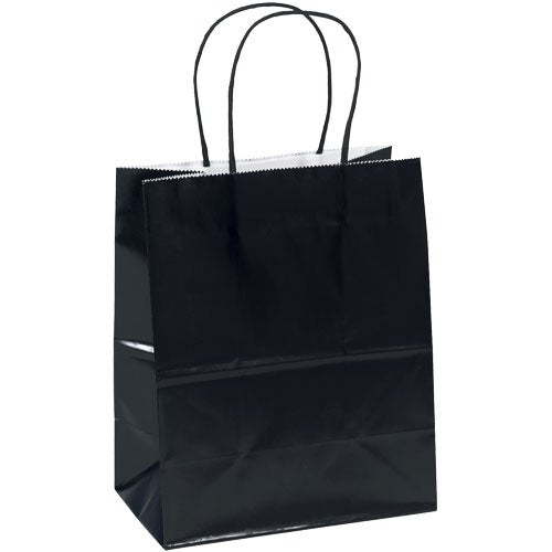 Black Amanda Gloss Shopper Bag