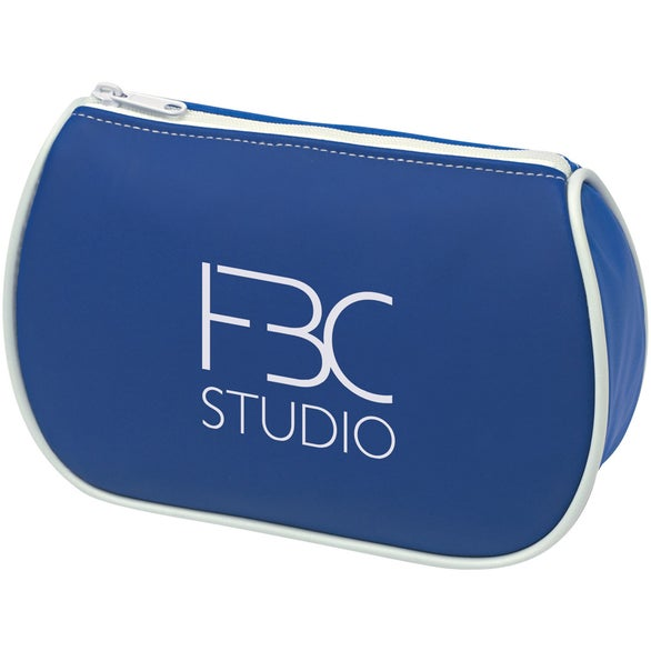 Blue Amenities Bag with Mirror
