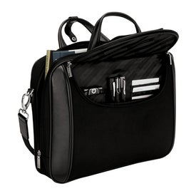 Branded Arezzo Black Nylon Luccahyde Briefcase