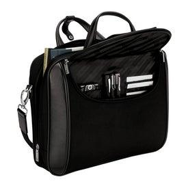 Branded Arezzo Black Nylon Luccahyde Briefcase