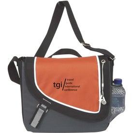 Imprinted A Step Ahead Messenger Bag