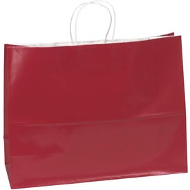 Aubrie Gloss Shopper Bag Printed with Your Logo