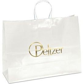 Aubrie Gloss Shopping Bag (White)