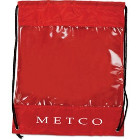 Printed Backpack with Clear Safety Window