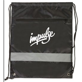 Backpack with Reflective Safety Stripe with Your Logo