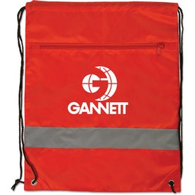 Backpack with Reflective Safety Stripe for Marketing